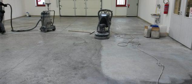 burkolás helyett betoncsiszolás